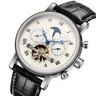 New Arrival Tourbillon Automatic Mechanical Men's Watch Business Moon Phase Date