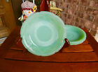 VTG 1945 Anchor Hocking Fire King JADEITE*ALICE*Saucer*Mint*CHristmas