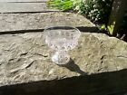Thumb Print Clear glass bowl 6 1/2 inches across and 6 inches tall