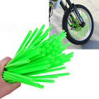 72 Motorcycle Dirt Bike Spoke Skins Covers Wraps Wheel Rim Guard Protector Green