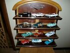 12 FRANKLIN MINT 143 SCALE SET CLASSIC CARS WITH DISPLAY SHELF DIE CAST