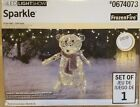 NEW Gemmy Lighted Bear Outdoor Christmas Decoration with White LED Lights