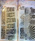 NEW Tim Holtz Stampers Anonymous Stamps  Stencil Sets Lot of 2 Card Journal ATC