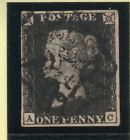 QV 1840 sg2 penny black plate 5  A C  with fine black MX  4 margins