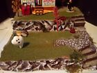 SNOW VILLAGE HALLOWEEN COSTUMES FOR SALE + PLATFORM DISPLAY DEPT 56  / LEMAX