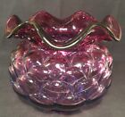 Fenton Art Glass Mulberry Jacqueline Vase Made For QVC