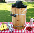6 qt Homemade Ice Cream Maker Old Fashioned Crank or Electric Ice Cream Churn