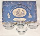 Fire King SAPPHIRE BLUE* SUNNY SUZY* GLASS BAKING SET* in BOX* SET #2*