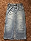 Womens Maurices Hydraulic Long Modest Distressed Denim Jean Pencil Skirt 9 10