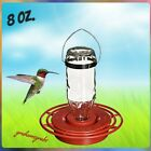 BEST 1 HUMMINGBIRD FEEDER W 8 OZ GLASS BOTTLE CUTE MADE USA HUMMERS LOVE IT