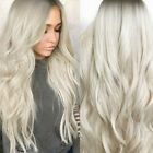 Women Sexy Gradient Blonde Party Wigs Long Curly Hair Mixed Colors Synthetic Wig