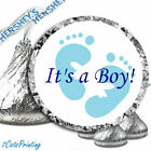 108 Its A Boy Baby Shower Blue Feet Hershey Kiss Kisses Labels Party Favor Fun