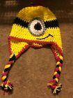 Handmade Despicable Me Minion Beanie Cap Hats - 2 different Color Variations