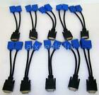 DMS 59 To Dual VGA Y Splitter Monitor Video Adapter Cable Lot of 10