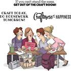 Art Impressions Cling Rubber Stamp Girlfriends Crafty Girls 4890