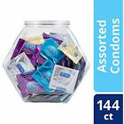 SALE Condoms, Natural Latex, Bulk Variety Fish Bowl 144 Count, Extra Lubricated,