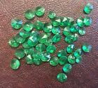 Vintage Green Watercolor Faceted Skittle Round Drop Charms Lucite Bead Lot