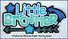 LITTLE BROTHER FAMILY title paper piecing Premade Scrapbook Pages album Rhonda