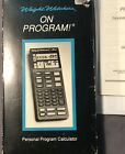 Weight Watchers On Program Personal Tracking System Calculator Set Vintage 1991