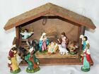Holy Birth 13 Piece Ceramic Nativity Scene with Mossy Stable 18 Light Up Nice