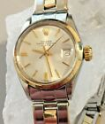 Vintage ROLEX Ladies Oyster Perpetual Date 6516 Automatic Stainless Steel 1966