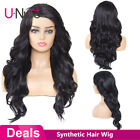 25inch Long Body Wave Synthetic Hair Wigs For Black Women Side Part 150% Density