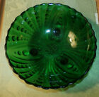 Vintage Forest green Anchor Hocking Boopie Burple footed bowl