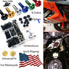 Alloy Complete Fairing Bolt Screws Nuts Universal For Kawasaki Z250 ABS 2015