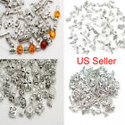 Mixed Tibetan Silver Metal Spacer Beads Charm Bracelet Pendant Jewelry Making 2h