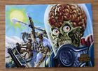 Stan Lee Swings the Mighty Typewriter of Doom on Mars Attacks Promo Card 10