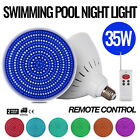 Swimming Pool Light 12V 35W RGB LED with Remote Control Spas PC Cover E27 Socket