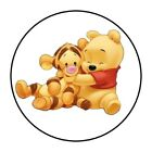 30 Baby Winnie The pooh and Tigger Envelope Seals Labels Stickers 15 Round