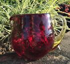 Blenko Ruby Crackle Glass Pitcher 3750