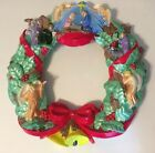 Rare Christmas Wreath Arnels Ceramic Nativity 1984 Vintage 18 Inch X 18 Inch