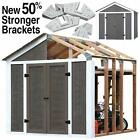 7 x 8 Garden Utility Garage Instant Framing Kit For Outdoor Wood Storage Shed