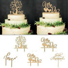 NEW Wedding Party Kids Happy Birthday Married Cake Wooden Cake Toppe Decorating