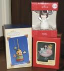 3 Hallmark Ornaments Sweet Tooth Treats, Praying Angel, Christmas Whirl in boxes