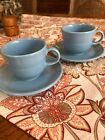 Homer Laughlin Fiestaware Periwinkle Cup And Saucer Set X2