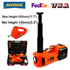 Car Jack 12V 5Ton Electric Hydraulic Jack Floor Lift with Impact Wrench Tire Kit