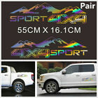 2Pcs Laser Reflective Mountain Graphic Vinyl 4X4 Car Truck Pickup Decal Sticker