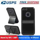 2Way Stand Aluminum TPU Hard Brushed Metal Shockproof Case Cover For iPhone 5 5S