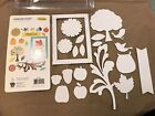 Little Yellow Bicycle Chipboard Shapes Glitter Accents 20 pieces Family Fruit