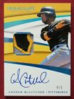 2018 Panini Immaculate ANDREW McCUTCHEN AUTOGRAPHED GAME-USED MATERIAL Card 4 5