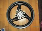 DUCATI 620 750 800 1000 900 SS MONSTER BLACK REAR WHEEL 17MM AXLE 5 1/2 WIDE