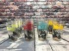 VINTAGE OLD TIME CAR AUTO GLASSES SET OF 12 Ford Packard Cadillac Maxwell
