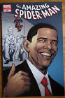 The Amazing Spider Man 583 Barack Obama Variant 5th Printing Blue Cover