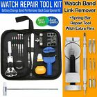 Watch Repair Kit Watchmaker Back Case Opener Link Remover Spring Pin Bar Tool US