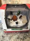 Lemax Village Penguin Warmup Campfire Table Accent Lighted Coventry Cove New