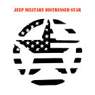 Army Star distressed military hood decal Jeep Wrangler Vinyl Graphic Sticker 2aF