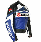 Suzuki GSXR MOTORBIKE MOTORCYCLE LEATHER JACKET Bikers Jacket